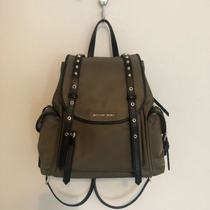NWOT Michael kors backpack green MK